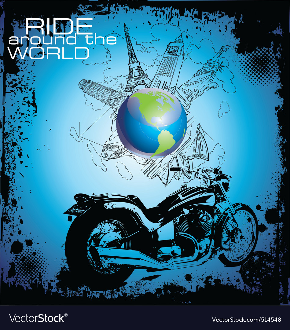 Ride around the world vector image