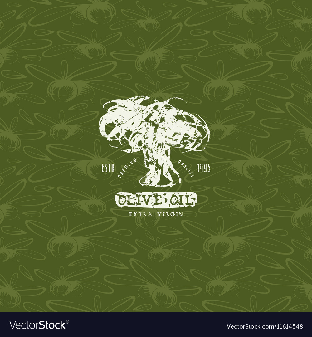 Seamless pattern with the image of olives