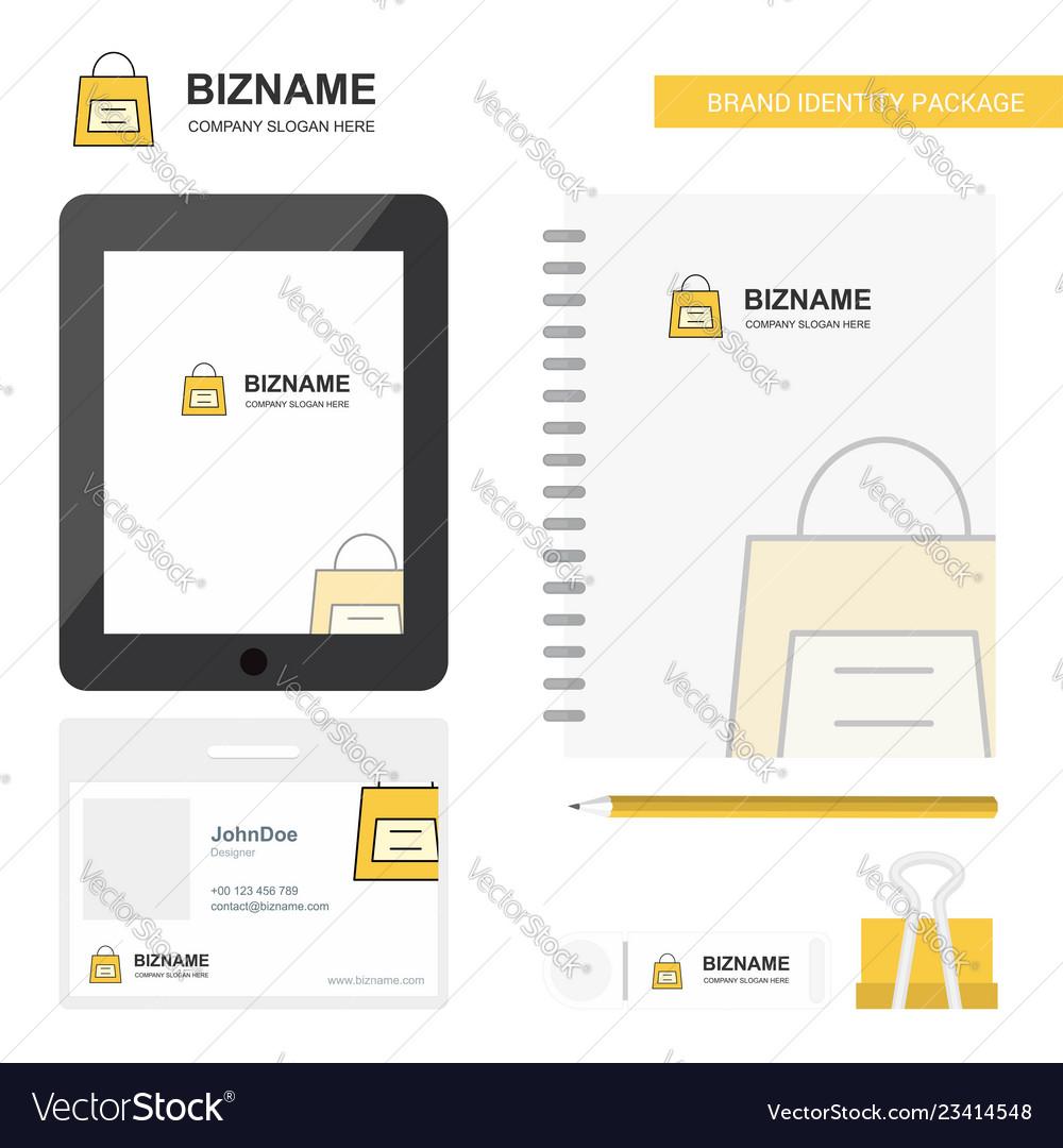 Shopping bag business logo tab app diary pvc