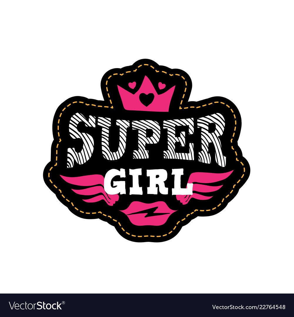Super girl print or patch for t-shirt with