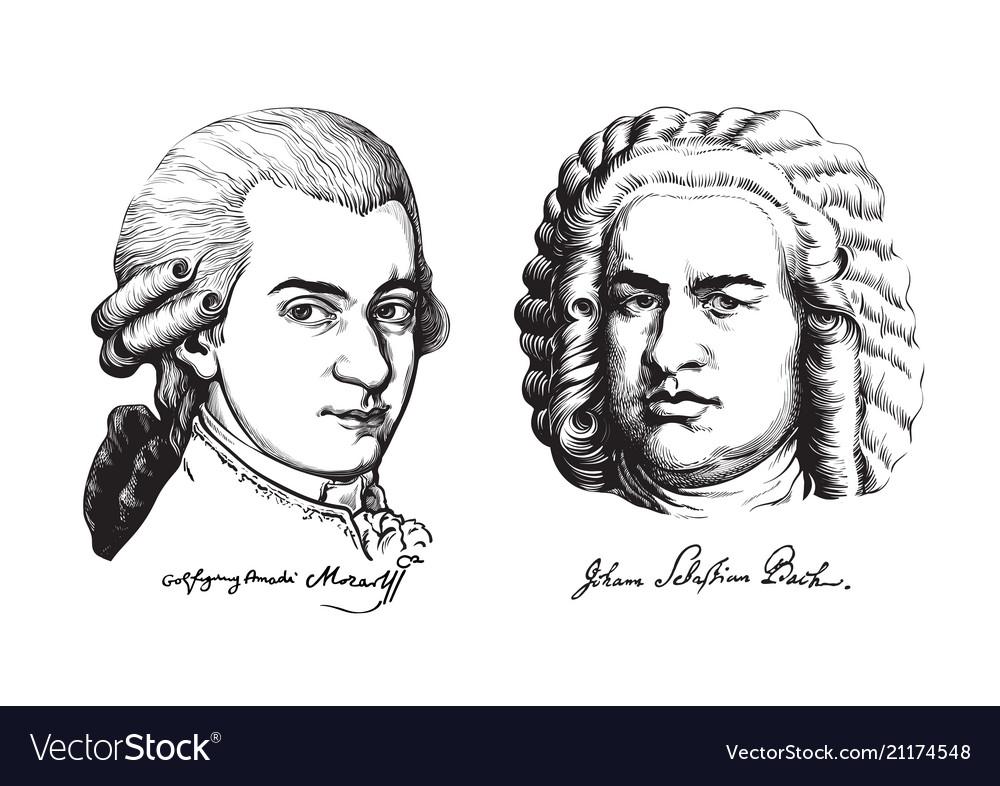 Wolfgang amadeus mozart and johann sebastian bach