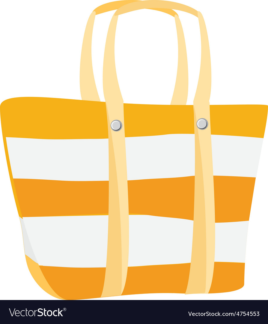 beach bag vector image rh vectorstock com bag victoria's secret bag victorinox