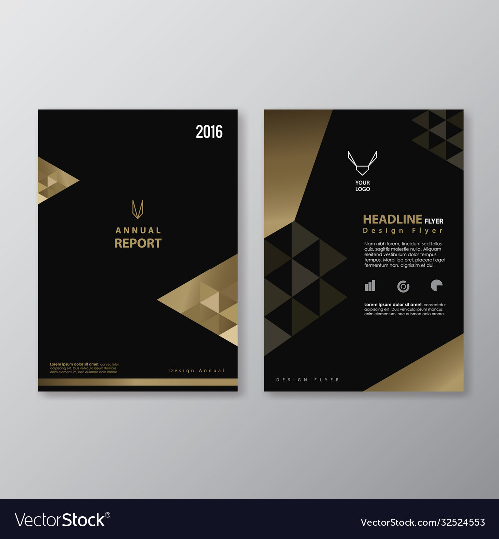 Black and gold flyer design vintage abstract