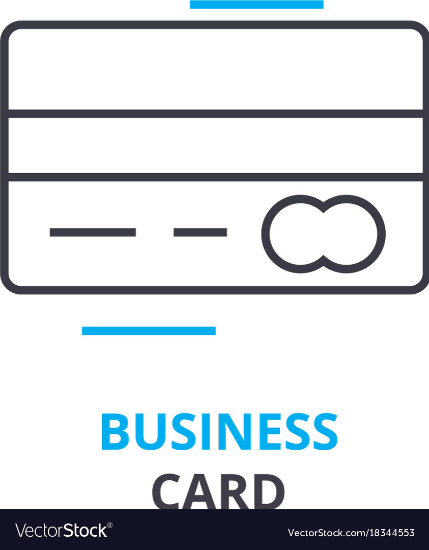 Business card concept outline icon linear sign vector image colourmoves