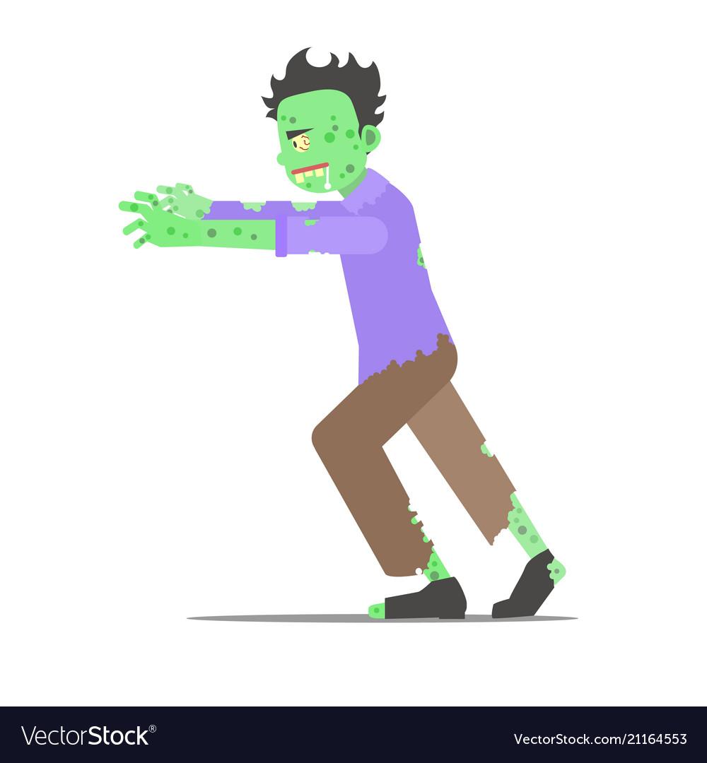 Cartoon character zombie man vector image