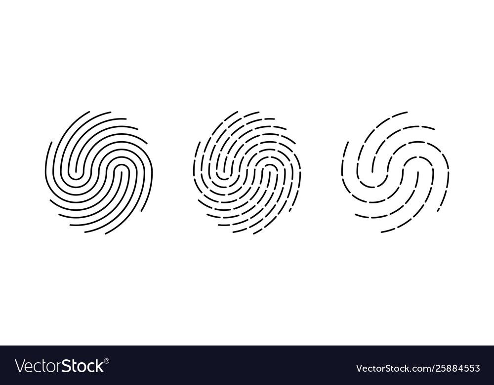 Fingerprint identification icon biometric