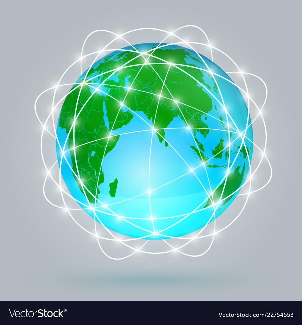 Globe digital connection digital communications