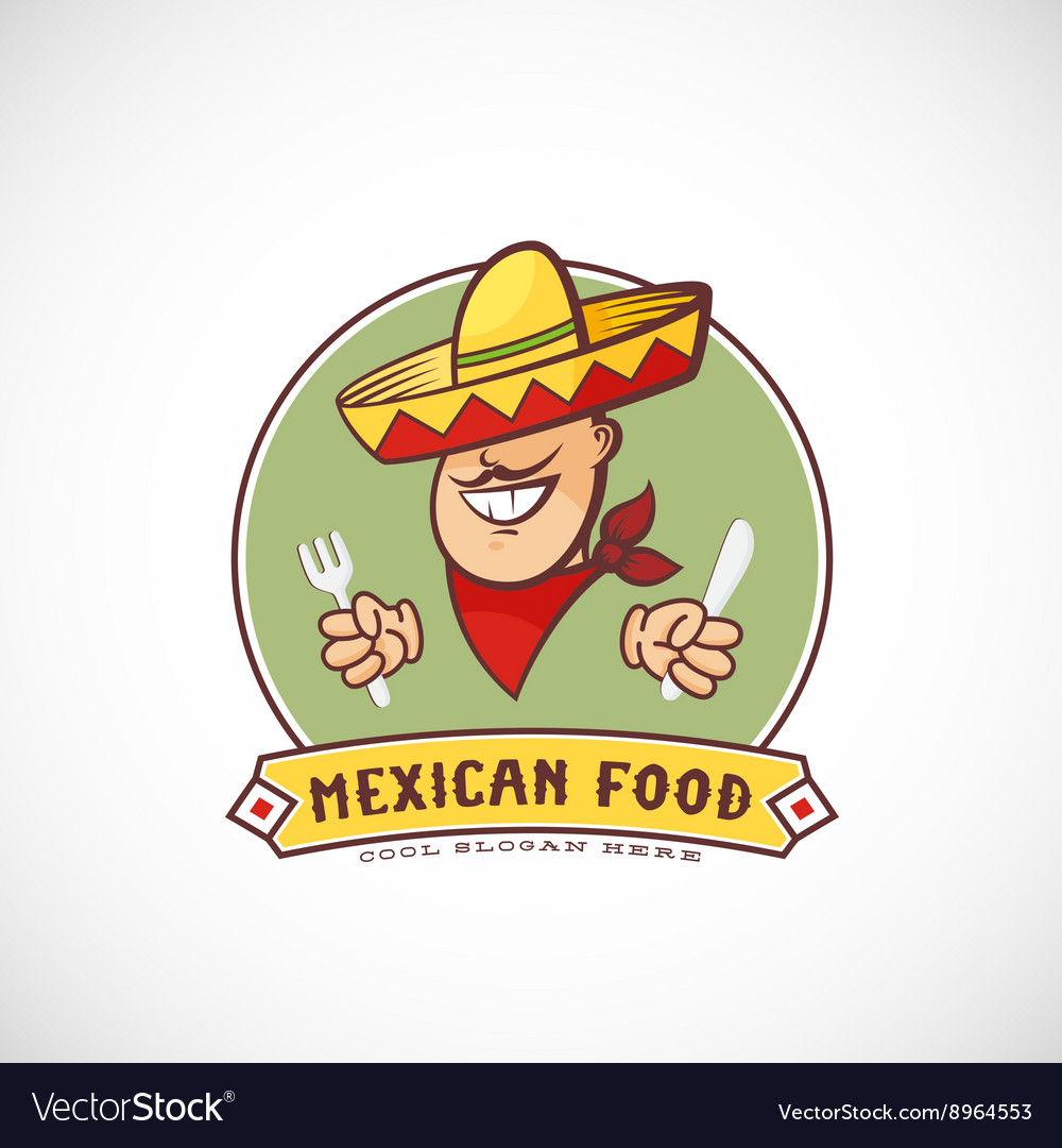 Mexican Food Abstract Sign or Logo Template