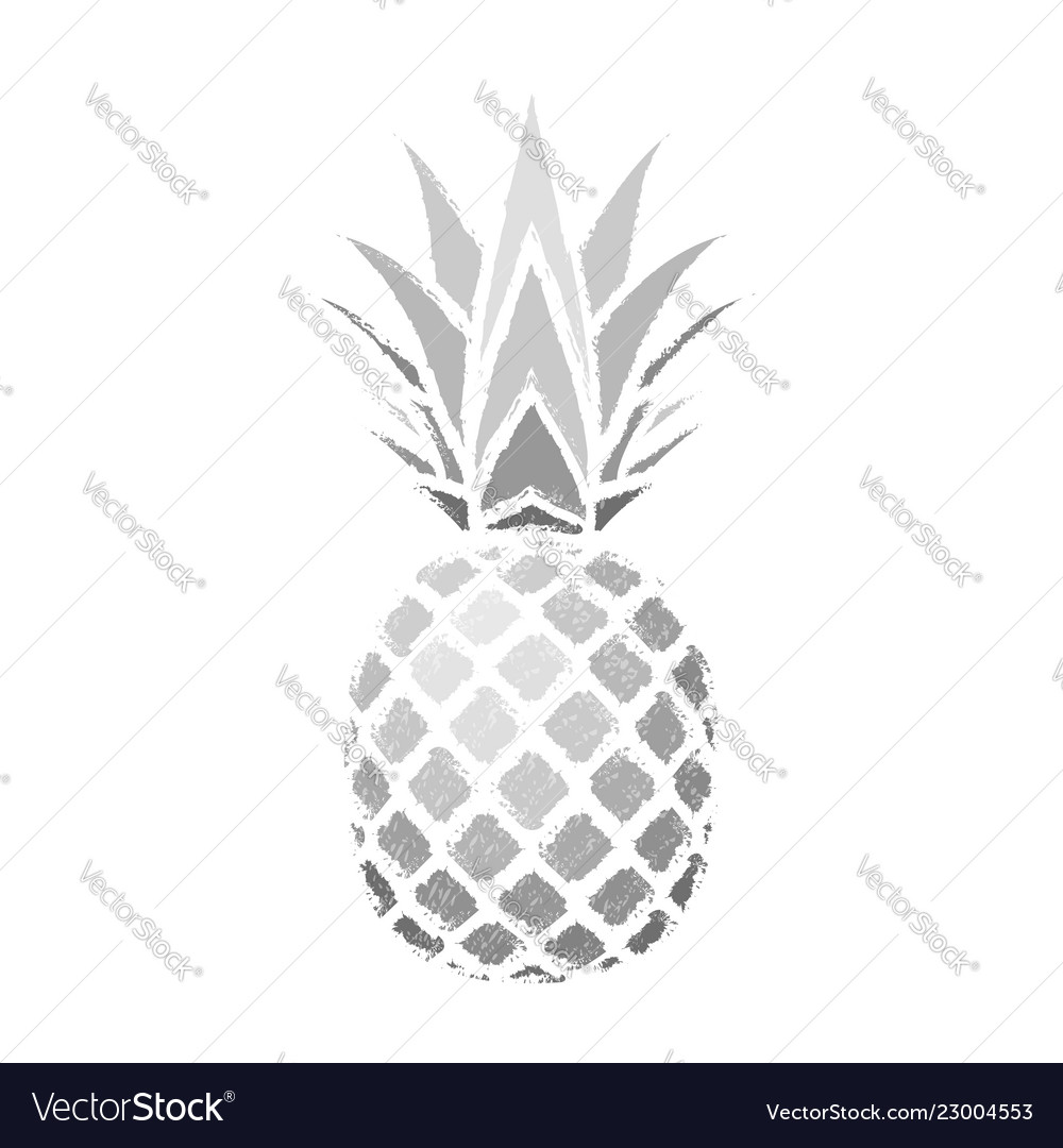 Pineapple grunge with leaf tropical silver exotic