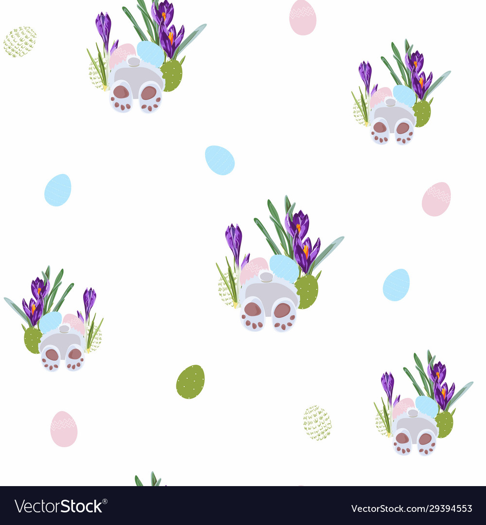 Seamless pattern whit easter bunny