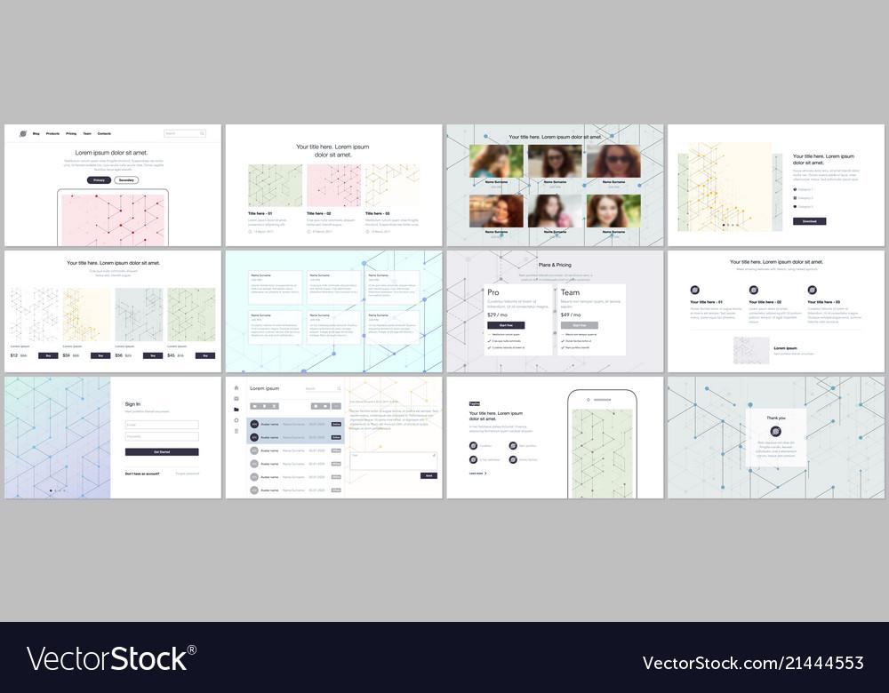 Templates for website design minimal