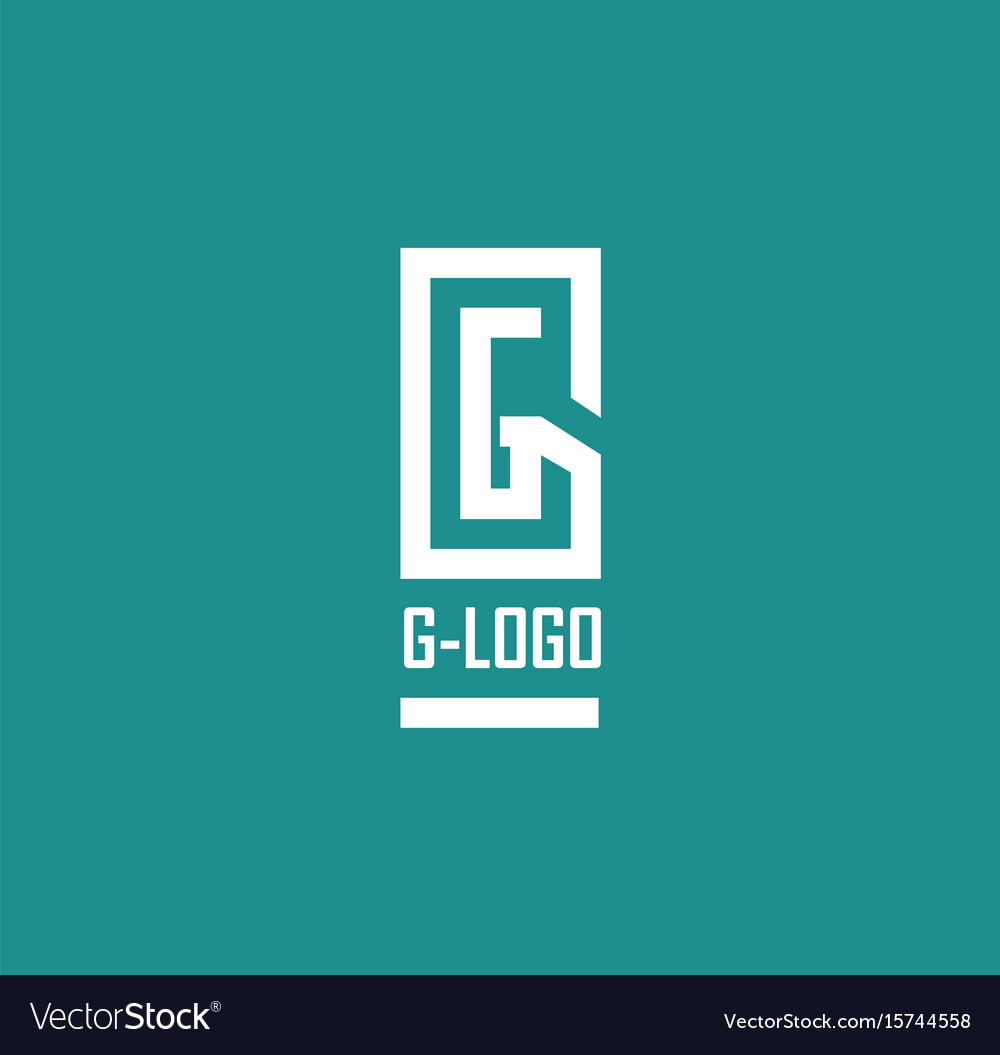 Abstract letters g vector image