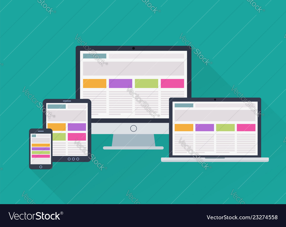Devices responsive web design