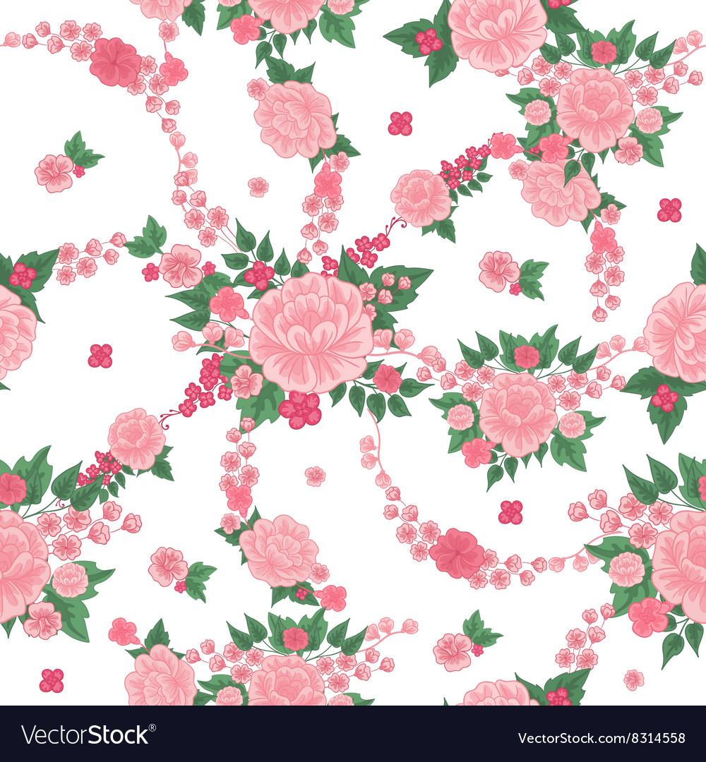 Floral Background Seamless Pattern Flowers
