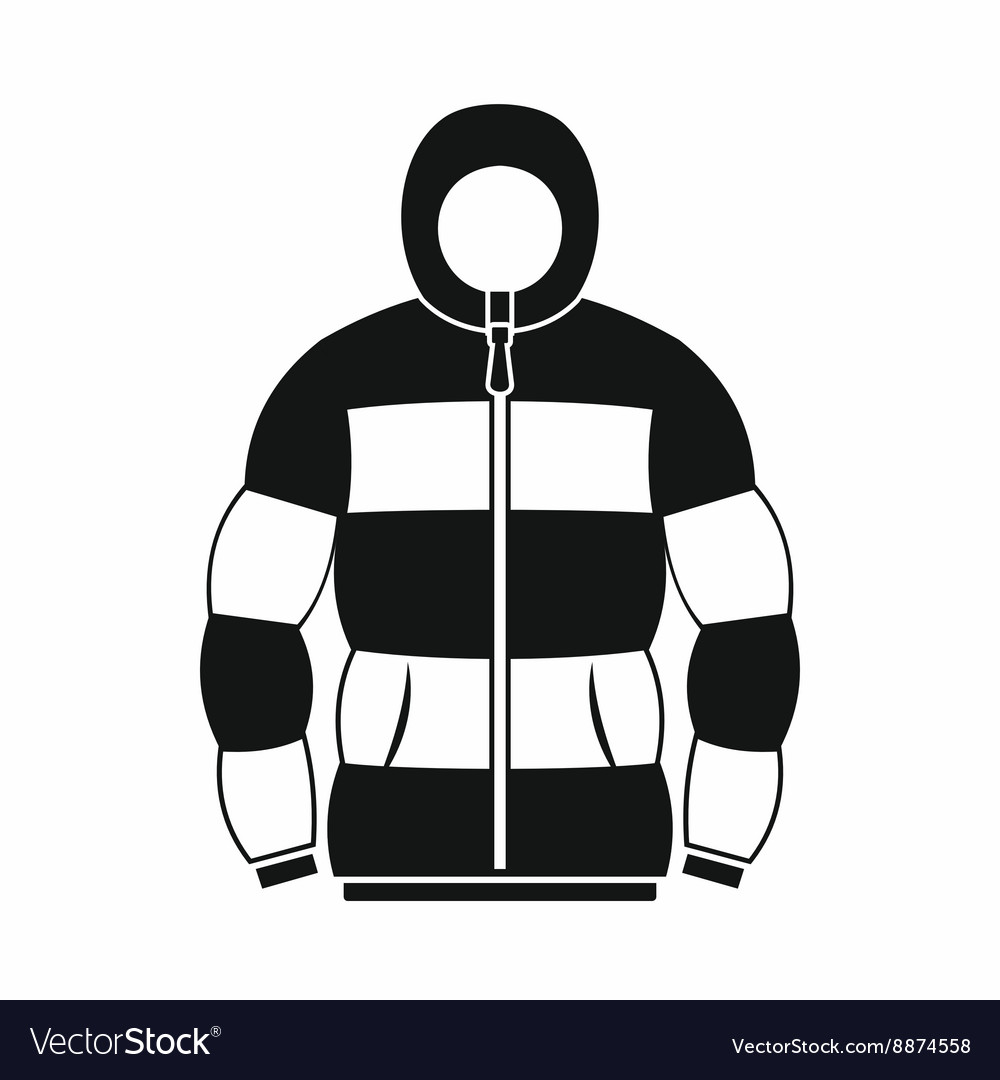 Hoodie icon in simple style