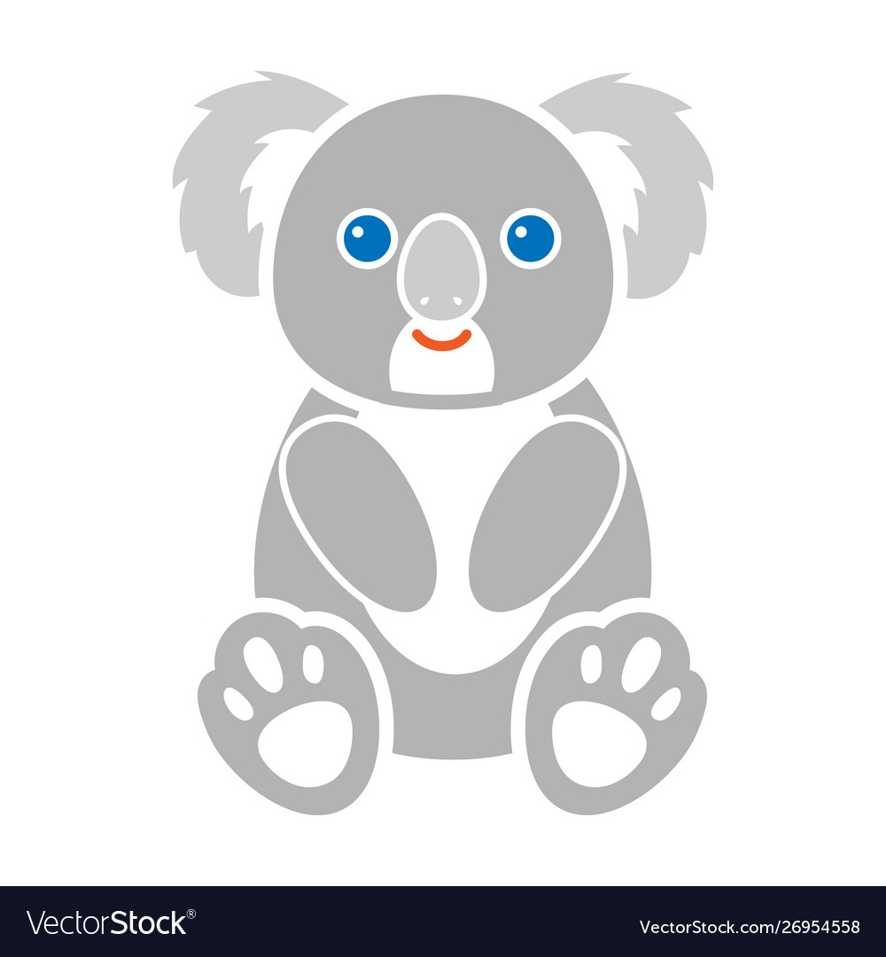 Koala Icon In Colour Style Isolated On White Vector Image