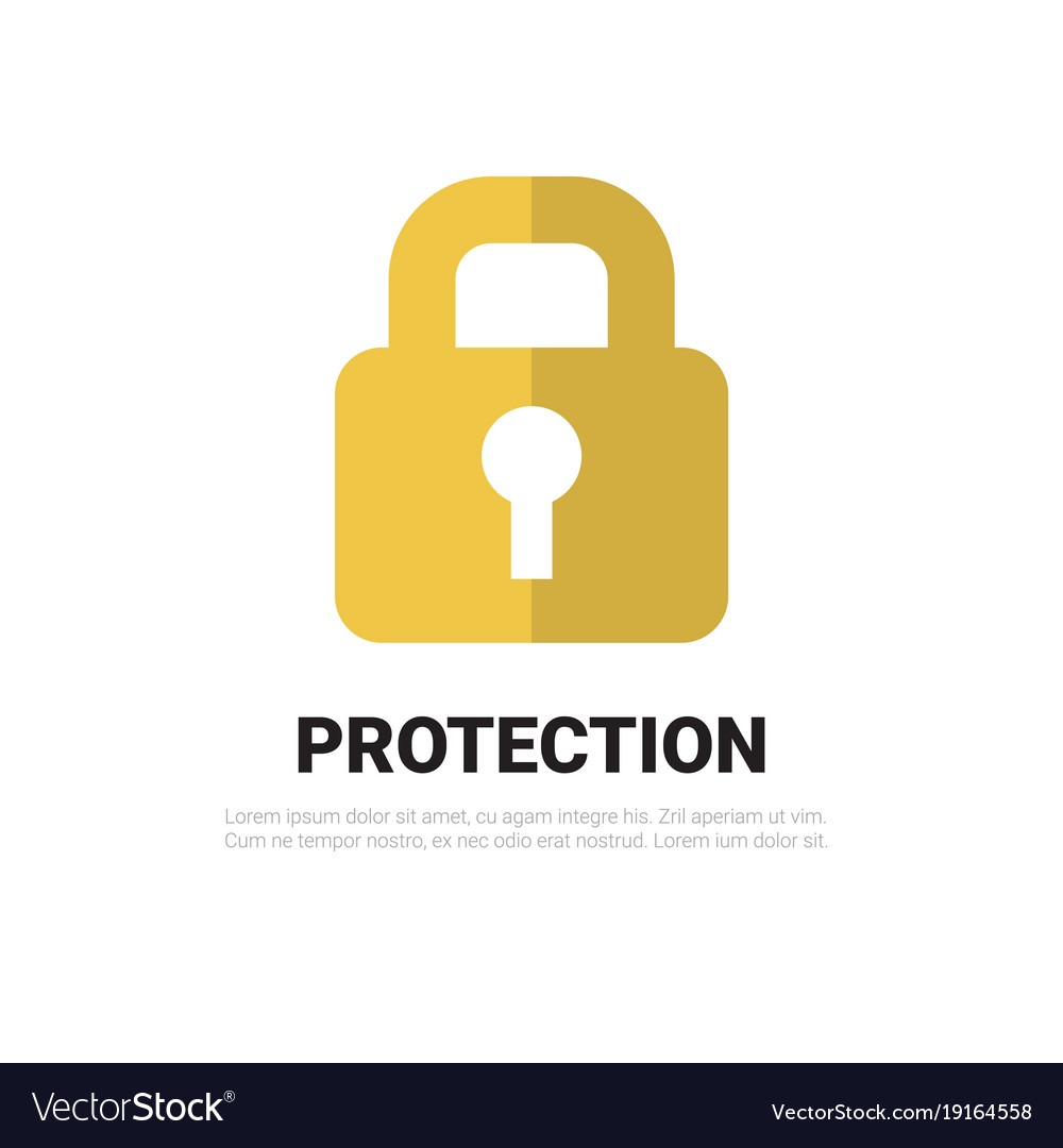 Lock icon padlock protection and security concept