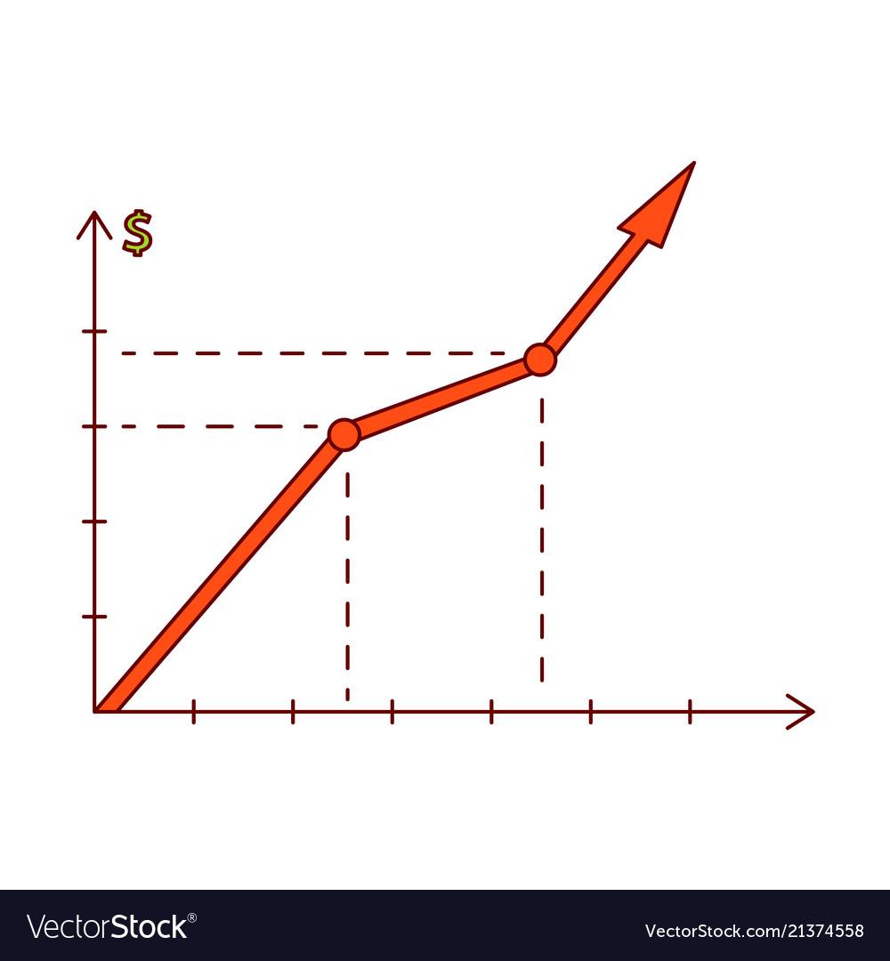 Sketch raising graph chart chart icon