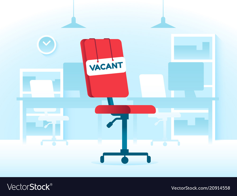Vacant position job in creative office business