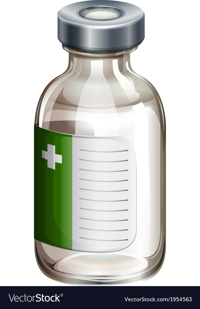 A vaccine bottle vector image