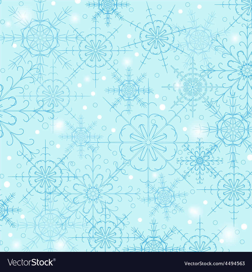 Blue background of snowflakes