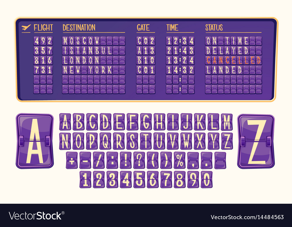 Board of arrival and departure