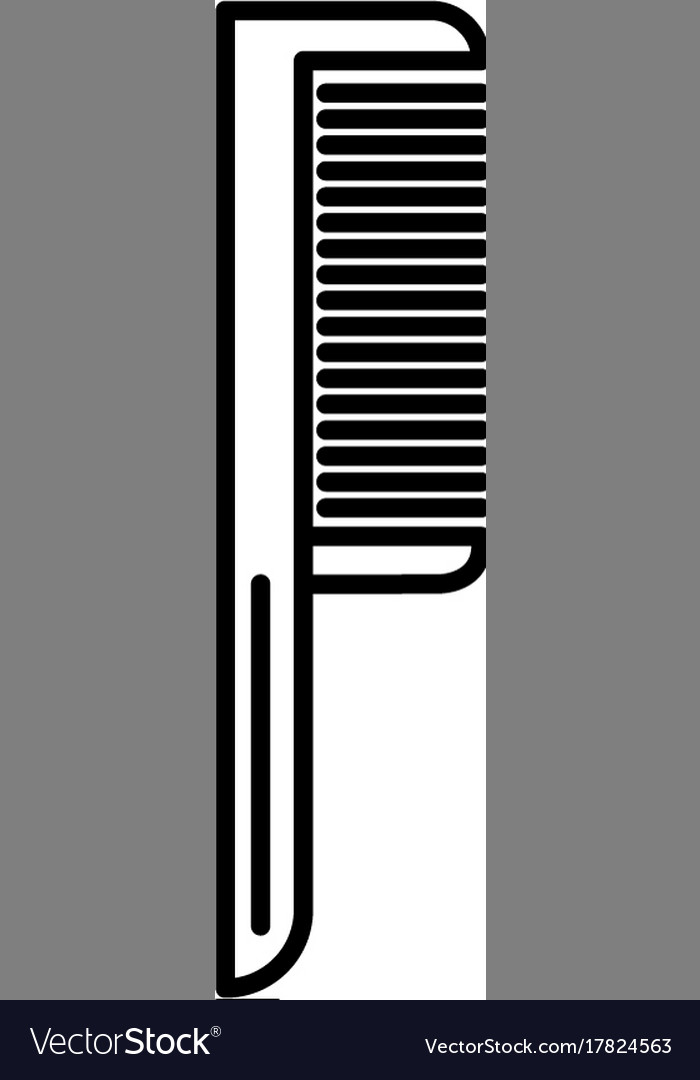 Comb one line icon sign on