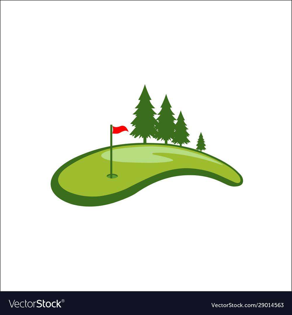 Field golf logo template