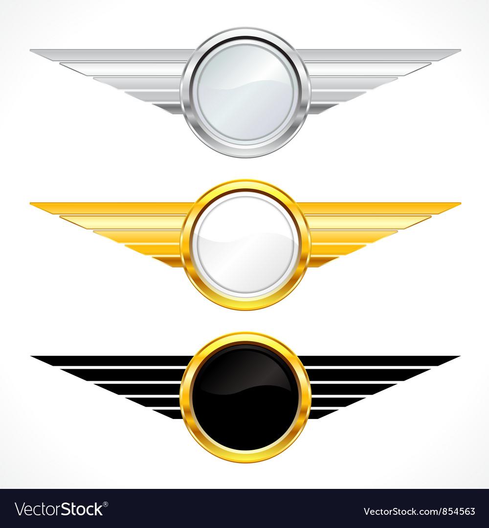 Gold emblems set