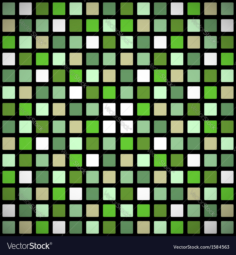 Green stained-glass window seamless pattern