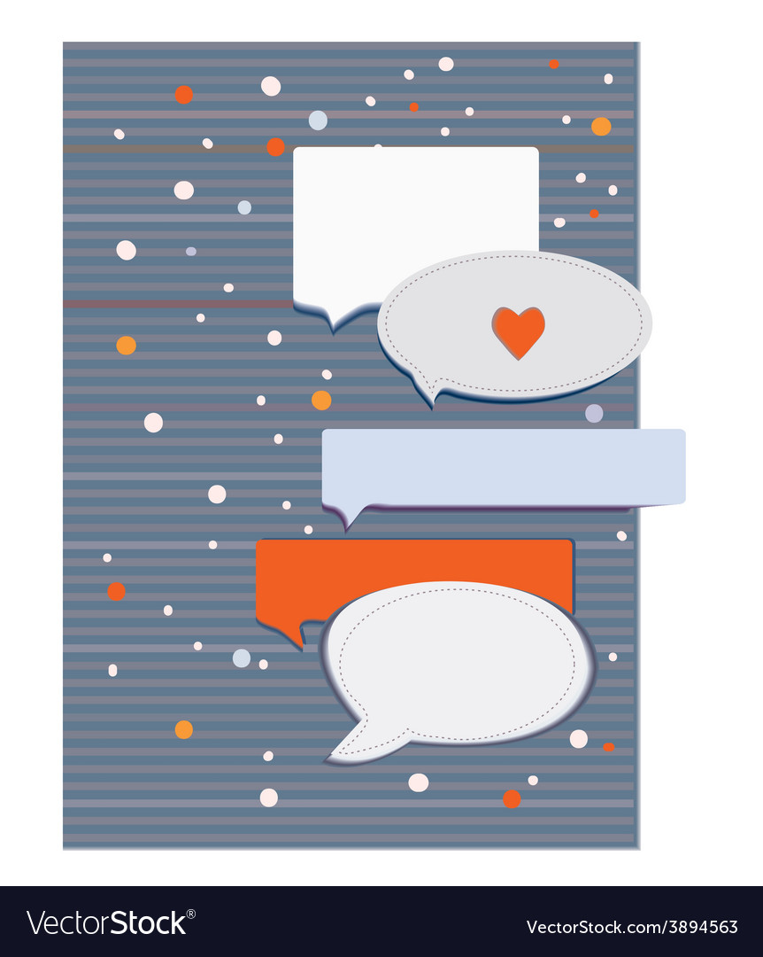 Greeting card with frames and design elements for