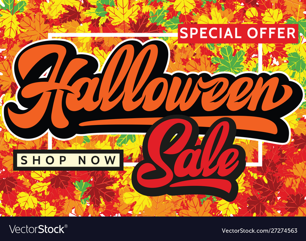 Halloween sale banners background