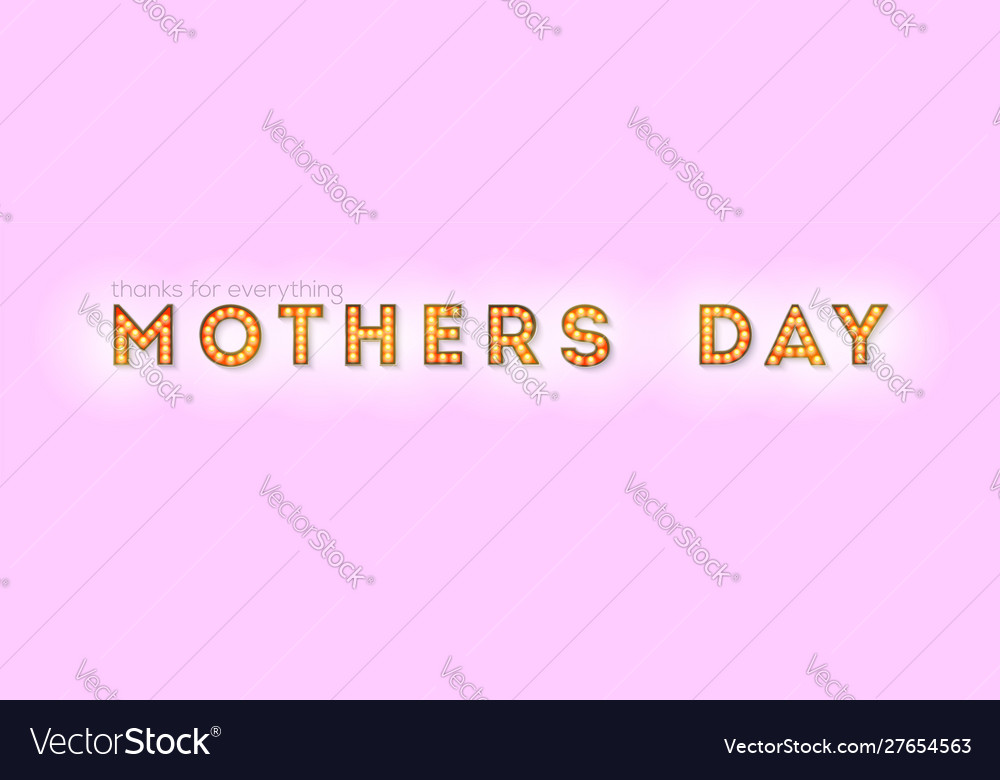 Happy mothers day design lettering retro