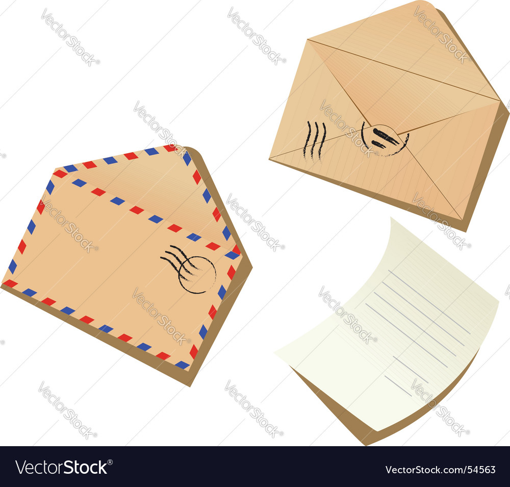 letter and envelopes royalty free vector image