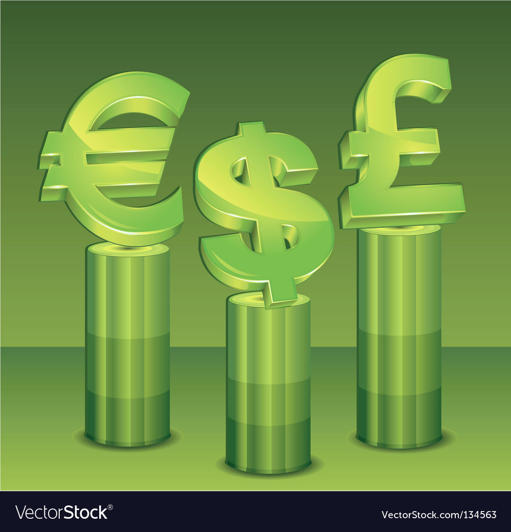 Money pedestal vector