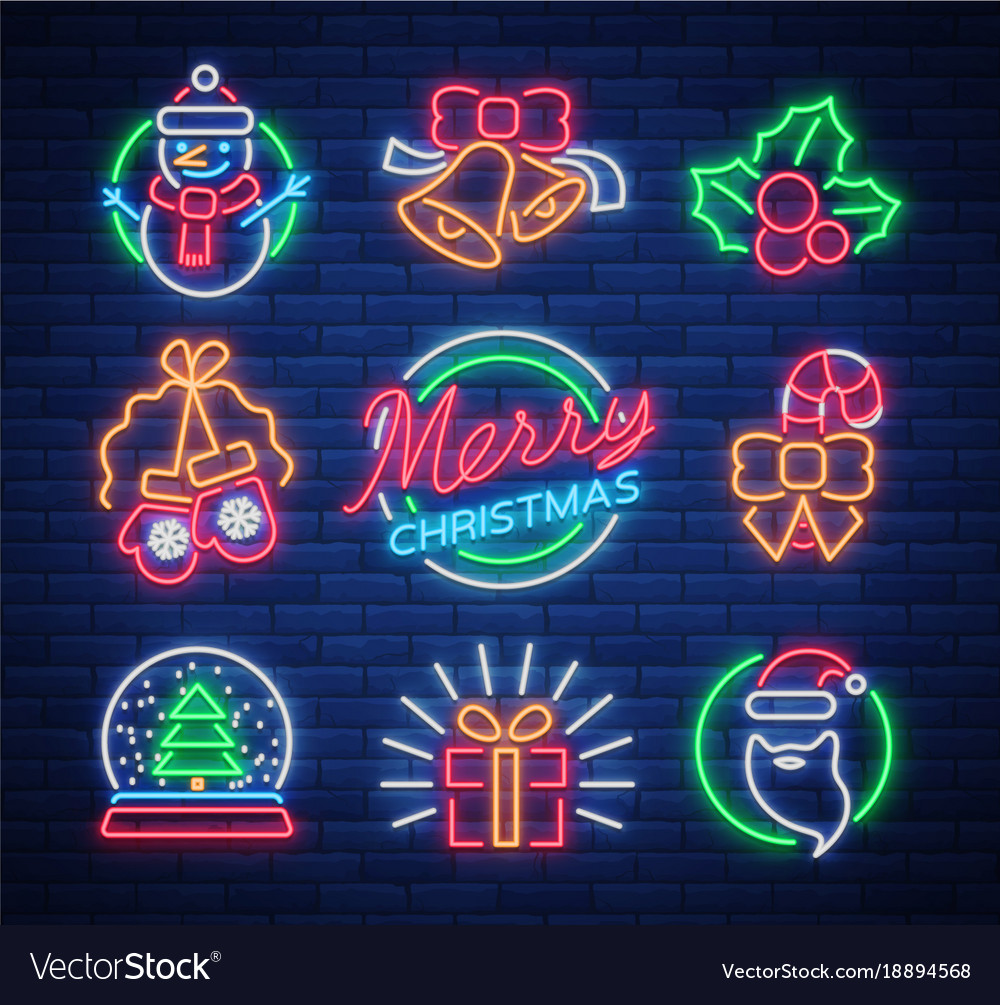 Neon Signs On Royalty Free Vector Image