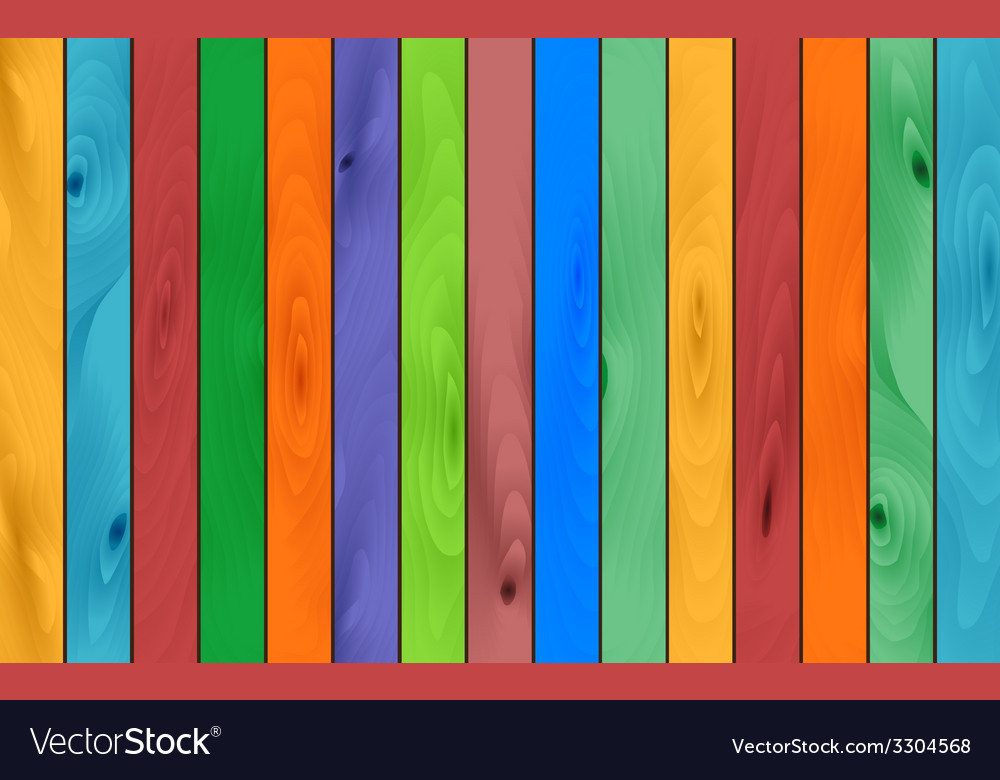 Color wood background vector image
