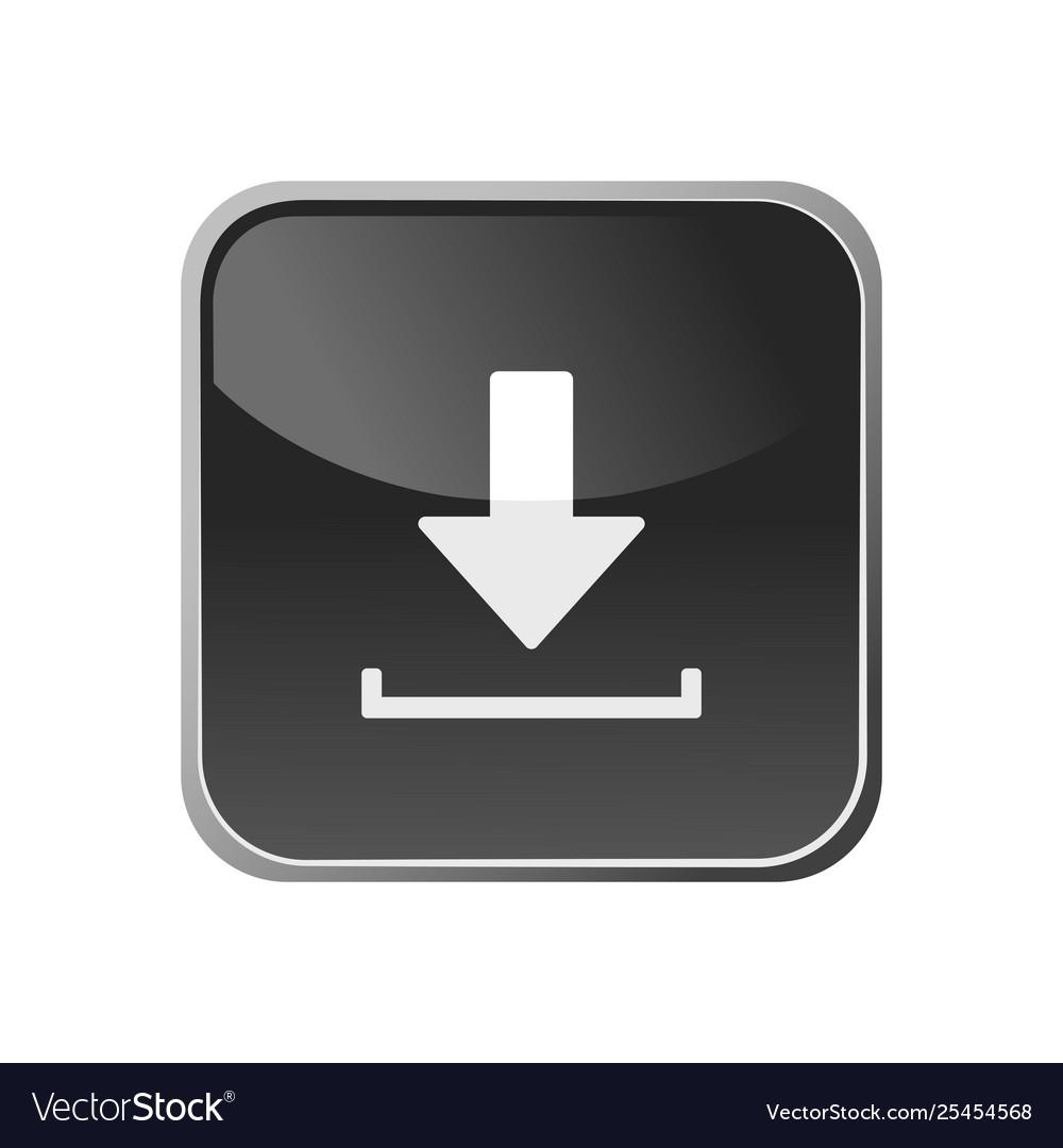 Donwload icon on a square button