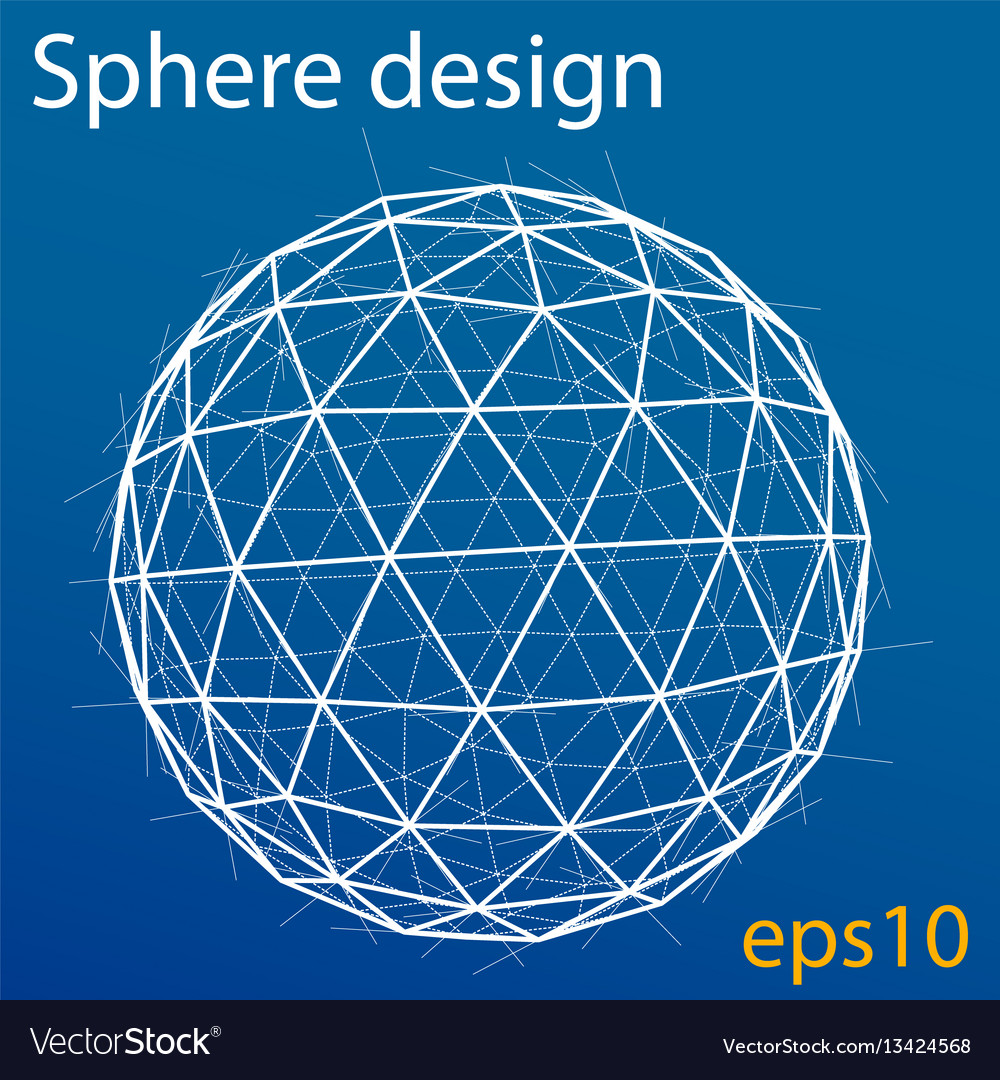 Global wireframe sphere eps10