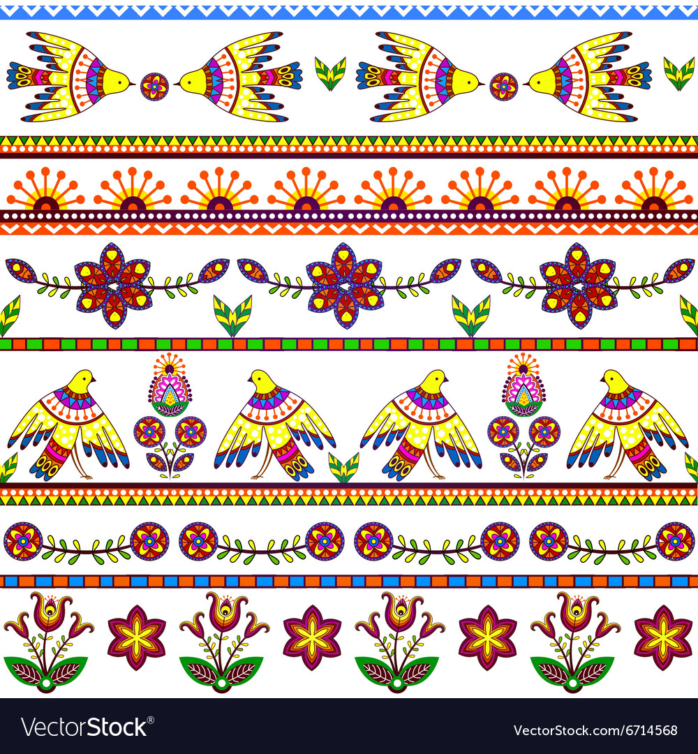 Seamless pattern with birds and flowers Floral