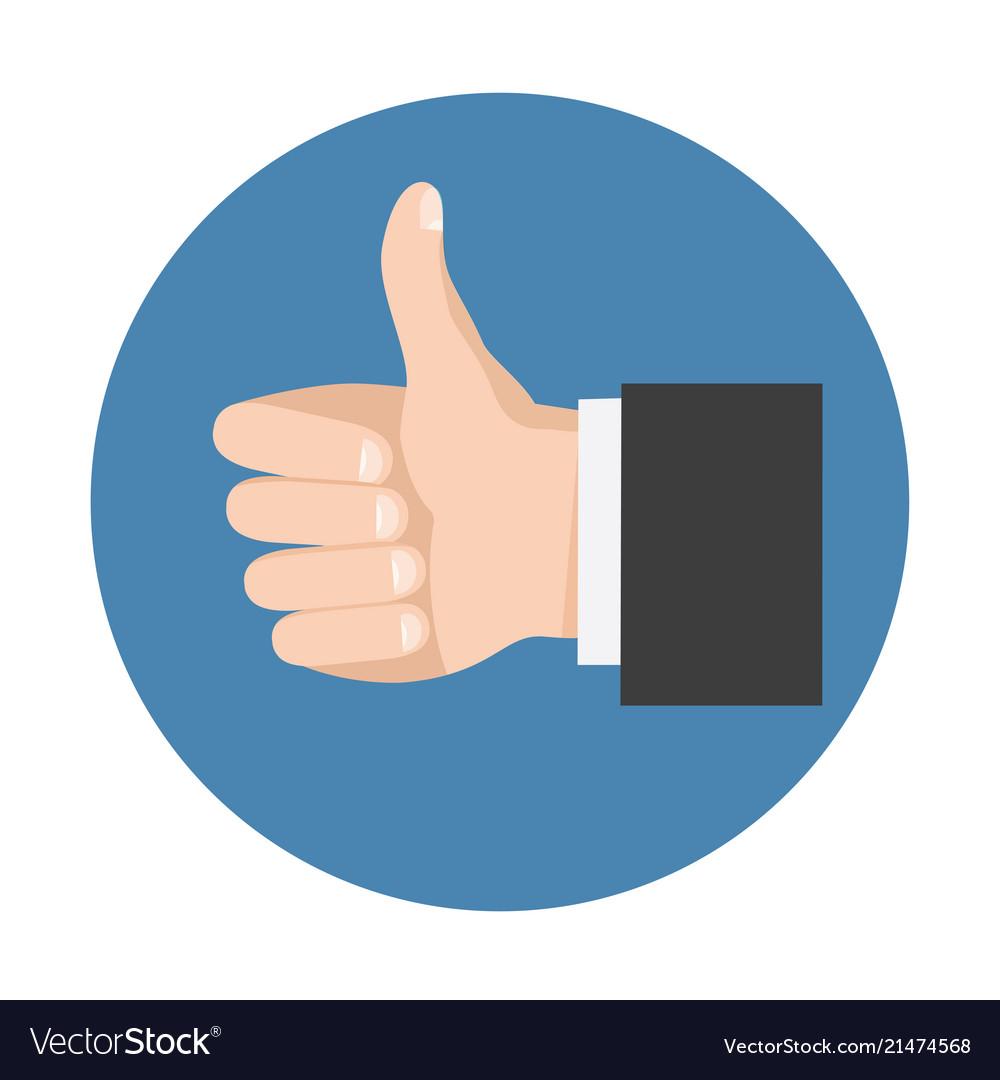 Thumb up symbol for social network