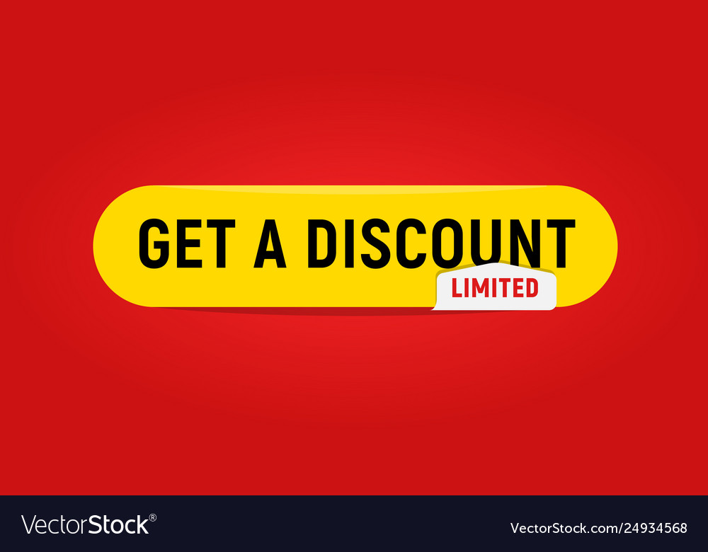 Web button template get a discount limited offer