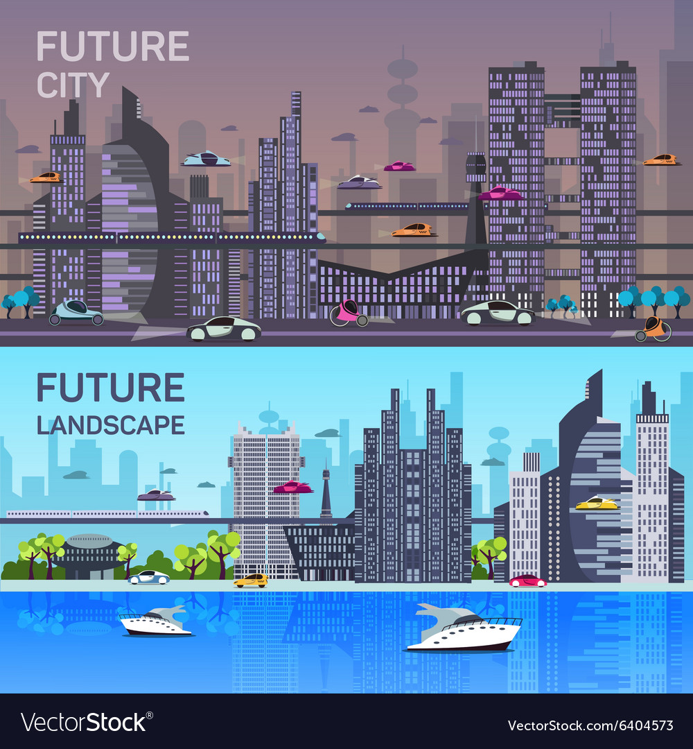 Busy urban cityscape templates with modern