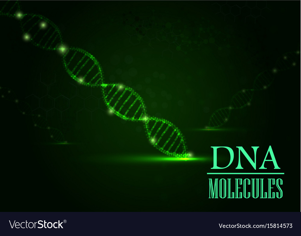 Dna concept on green light background