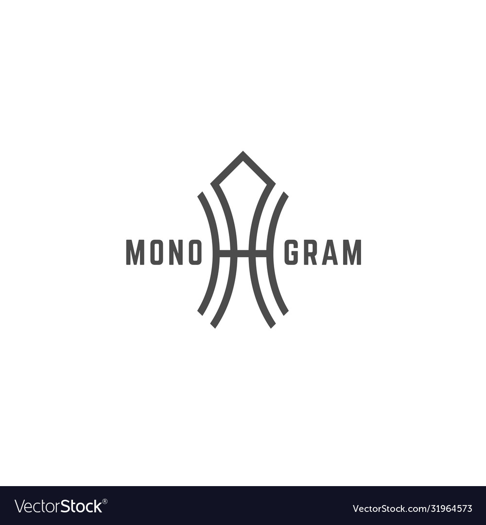 Geometric monogram ha