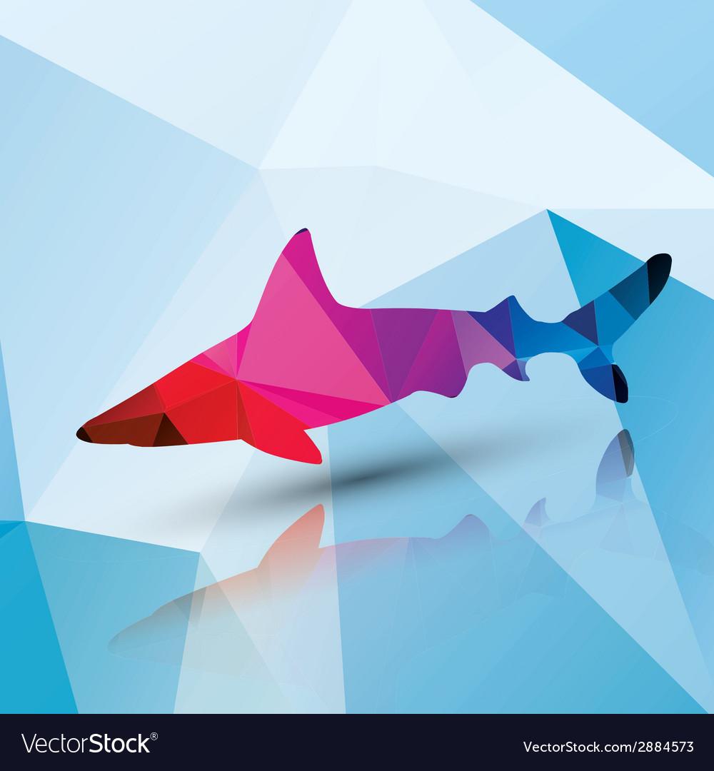 Geometric polygonal shark pattern design