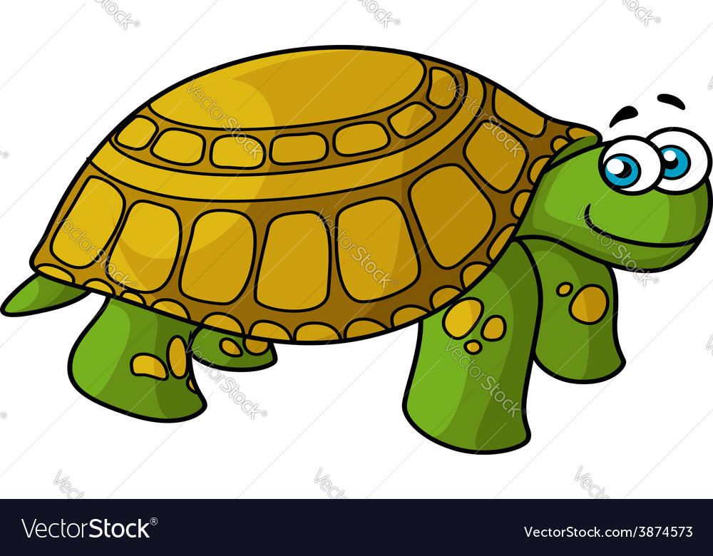 Green cartoon turtle with yellow spots