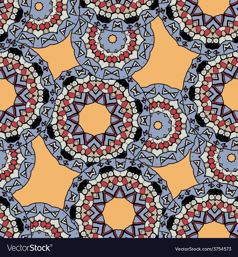 Indian ornament kaleidoscopic flora pattern vector image