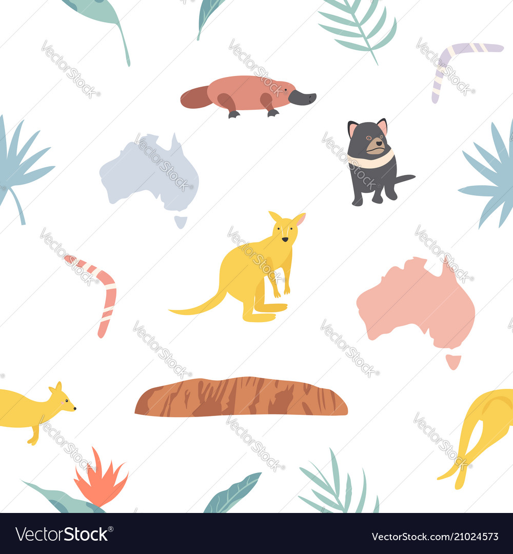 Seamless pattern with koalas and leaves