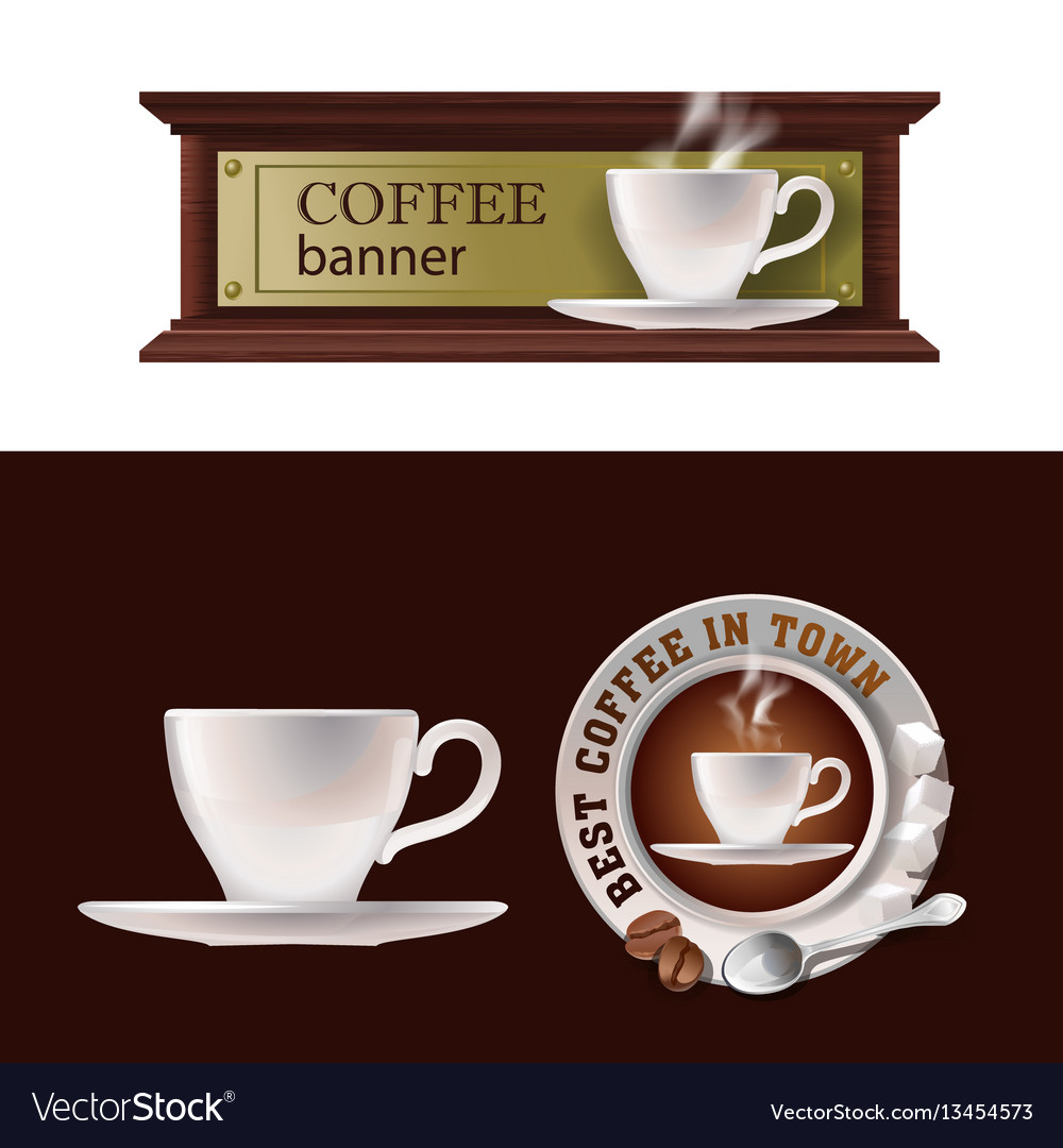 Set of banner badge sticker with icon